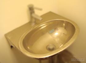 不锈钢椭圆型洗手槽架