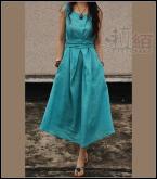 拉絔系列亞麻連衣裙