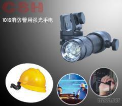佩戴式夾扣式充電頭燈|消防警用強光手電筒|LED頭盔安全帽燈