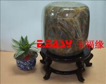 供應天然玉石骨灰罐Natural jade urn
