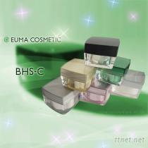塑膠容器 乳霜罐 BHS-C 壓克力方型