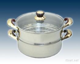 不鏽鋼雙層蒸鍋