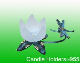 百合花玻璃烛台