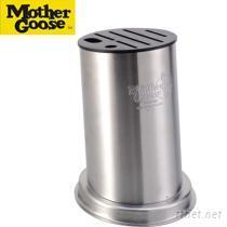 《美國鵝媽媽》圓形不鏽鋼刀座