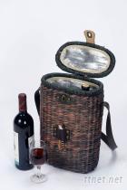 肩背冰袋籃/酒瓶籃Wine & cooler basket for 2