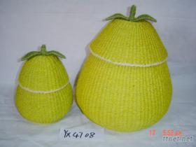 編織劍麻水果籃