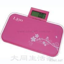 LION獅子心粉彩電子體重計(伸縮型)