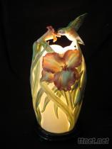 金萱蜂鳥瓷燈