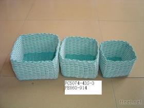 手工玉米皮編織籃