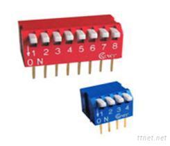 2-12位琴键型DIP开关,拨动开关