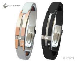 鈦炫尊貴能量手環(黑鋼/玫瑰金)
