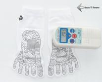钛锗负离子能量五趾袜