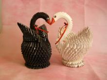 摺紙天鵝DIY