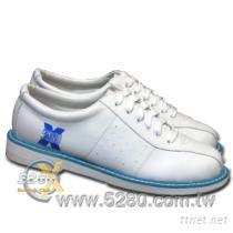 5280入門保齡球鞋-白/藍(中性款,無左手鞋)大小尺碼超齊全~!