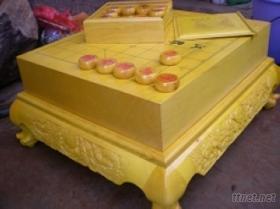 榧木雕刻棋盤