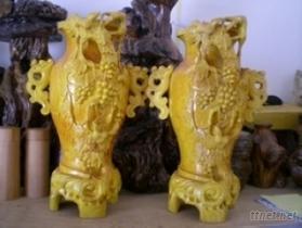 榧木雕刻花瓶