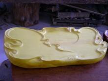 榧木雕刻茶盘