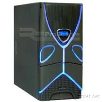 電腦機殼(附溫度計) (灰黑)