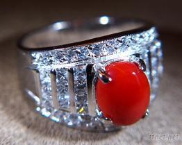 阿卡珊瑚戒指
