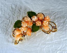 粉紅珊瑚別針