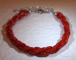 紅珊瑚米粒手鏈