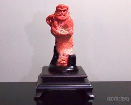 桃紅珊瑚雕刻品