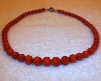 桃紅珊瑚項鏈