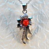 全紅珊瑚圓珠項墬