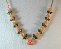 粉紅珊瑚項鍊