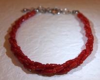紅珊瑚直管珠手鏈