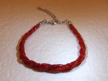 紅珊瑚直管手鏈