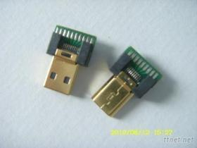 Micro HDMI 標准1.4版夾板式