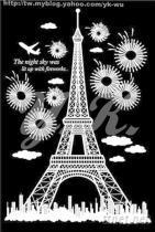 韓國正版夜光壁貼(巴黎鐵塔)