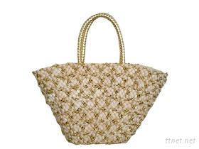 金香織和風草編包