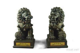 热卖!民俗手工艺术精品-双狮献瑞(共两款)