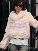 人造毛仿兔毛皮草, 仿狐狸皮草, 短款韓版夾克