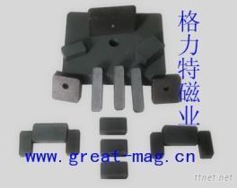 格力特鐵氧體切割大小方塊磁鐵礦石