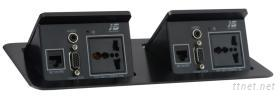 可藏式桌面插座JS-311
