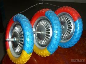 儿童三轮车铁轮发泡胎