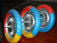 兒童三輪車鐵輪發泡胎