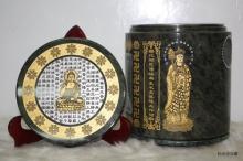 高級漢玉地藏王版心經骨灰罐