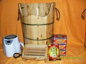 廠家出口香柏木蒸腳桶,藏藥熏蒸木桶,蒸蒸更健康