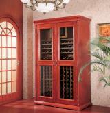 美晶別墅級實木紅酒恆溫櫃 北京豪華型葡萄酒儲存展示櫃