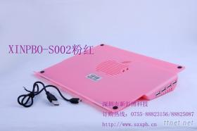XINPBO-S002筆記本電腦散熱墊+HUB2.0