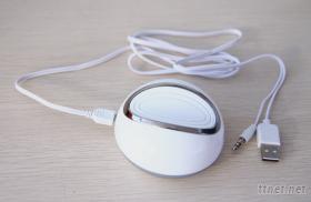新颖,迷你电脑音响,振动音响,没有喇叭可以让桌子唱歌的音响,礼品音响,共振音响 Hi.P型号 3W 白色