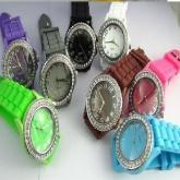 硅胶镶钻手表,钻石表