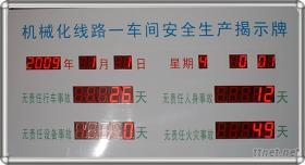 安全生產記錄屏