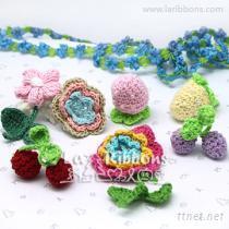 手鉤花, 毛線花, 手工鉤花, 服裝輔料