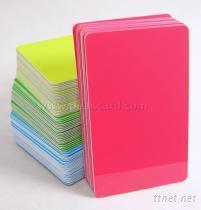PVC背膠白卡, 空白不幹膠卡, 打印証卡