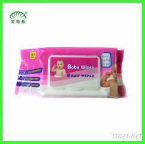 80片热风布带盖婴儿湿巾,湿纸巾